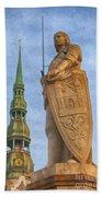 Roland Of Riga Painting Bath Towel