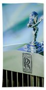 Rolls-royce Hood Ornament -782c Bath Towel