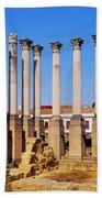 Roman Temple In Cordoba Bath Towel