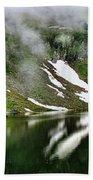 Romanian Glacier Lake Bath Towel