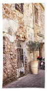 Romantic Chania Street Bath Towel