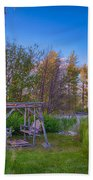 Romantic View By The Methow River Bath Towel