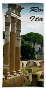 Rome Italy Poster Bath Towel