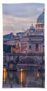 Rome Saint Peters Basilica 01 Bath Towel
