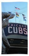 Ron Santo Chicago Cubs Statue Hand Towel