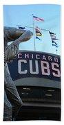 Ron Santo Chicago Cubs Statue Bath Towel
