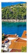 Rooftops Sea And Stone Islands Bath Towel
