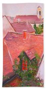 Rooftops Trogir Croatia Hand Towel