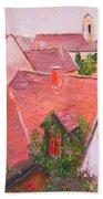 Rooftops Trogir Croatia Bath Towel