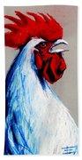 Rooster Head Bath Towel