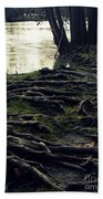 Roots On White River Bath Towel