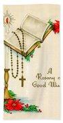 Rosary Good Wishes Bath Towel