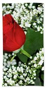 Rose And Baby's Breath Bath Towel