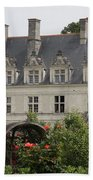Rose And Cabbage Garden Chateau Villandry Bath Towel