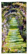 Rose Arch In Summer Sunshine Bath Towel