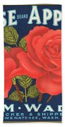 Rose Brad Apples Crate Label Bath Towel