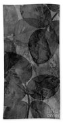 Rose Clippings Mural Wall - Black And White Bath Towel