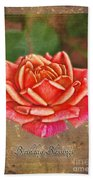 Rose Greeting Card Birthday Bath Towel