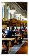Rose Main Reading Room New York Public Library Bath Towel