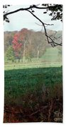 Rose Tinged Trees Bath Towel