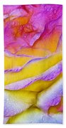 Rose With Dew Drops In Candy Colors Bath Towel