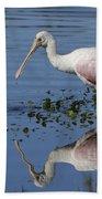 Roseate Spoonbill Hunting Bath Towel