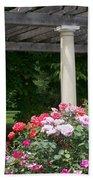 Roses And Pergola Bath Towel