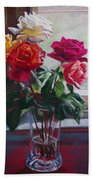 Roses By The Window Bath Towel