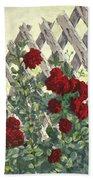 Roses On Lattice Bath Towel