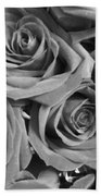 Roses On Your Wall Black And White  Bath Towel