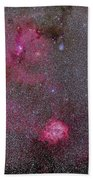 Rosette And Cone Nebula Area Bath Towel