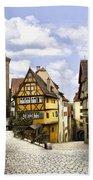 Rothenburg Marketplatz Bath Towel
