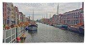 Rotterdam Canal Bath Towel