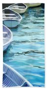 Rounded Row Of Rowboats Bath Towel