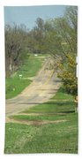 Route 66 - Alanreed Texas Bath Towel