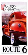 Route 66 America's Highway Bath Towel
