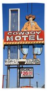 Route 66 - Cowboy Motel Bath Towel