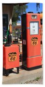 Route 66 Gas Pumps Bath Towel