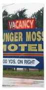 Route 66 - Munger Moss Motel Sign Bath Towel