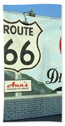 Route 66 - Mural With Shield Bath Towel