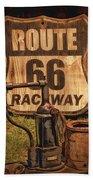 Route 66 Raceway Bath Towel