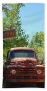 Route 66 Truck Bath Towel