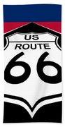 Route 66 - U. S. Bath Towel