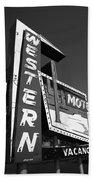 Route 66 - Western Motel 7 Bath Towel