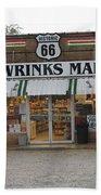 Route 66 - Wrink's Market Bath Towel