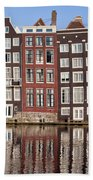 Row Houses In Amsterdam Bath Towel