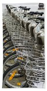 Row Of Bicycles Bath Towel