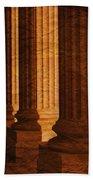 Row Of Large Columns Bath Towel