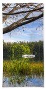 Rowboats At The Lake Bath Towel