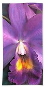 Royal Purple Cattleya Orchid Bath Towel